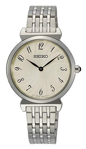 Seiko Orologio Analogico Quarzo Donna con Cinturino in Acciaio Inox SFQ801P1