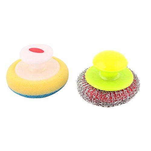 artseite Kunststoff Griff Topf Pfanne Schüssel Reinigungsbürste sortierte Farbe (2-zoll-kunststoff-töpfe)