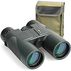 USCAMEL Jumelles de Grand Diamètre 10x42 étanches Binoculars, Avec corps Miroir en métal, Film Vert, Haute Définition, Haute Puissance