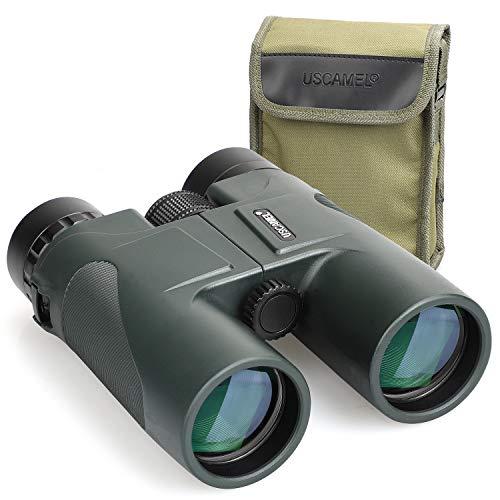 USCAMEL Fernglas Testsieger, 10x42 Wasserdicht Metallische Spiegelkörper Grüner Film Hohe Binoculars