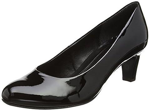 Gabor Vesta 2, Escarpins femme, Noir (Black Patent Ht), 39