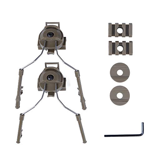 ATAIRSOFT Tactical Helm Headset Adapter für COMTAC-Headset Fast-Helm-Seitenschiene TAN