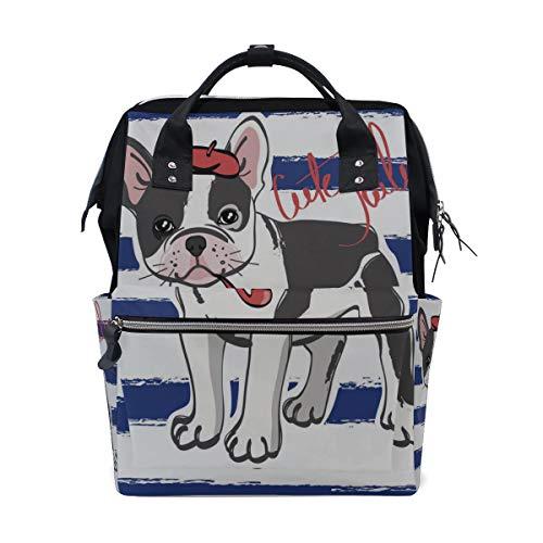 Starke Beliebte Französisch Bulldog Große Kapazität Windel Taschen Mummy Rucksack Multi Funktionen Wickeltasche Tote Handtasche Für Kinder Babypflege Reise Täglichen Frauen