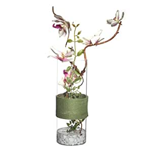 Composizione di fiori Orchidee artificiali in vaso, altezza: 54 cm