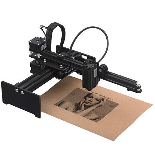 KKmoon 3500 mw Graviermaschine, Tragbare Desktop La-ser Engraver, Mini Carver DIY La-ser Logo Markendrucker mit Schutzbrille Arbeitsbereich 150mm * 150mm
