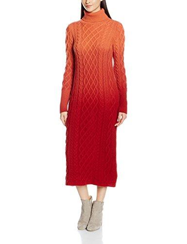 United Colors of Benetton, Vestito Donna Multicoloured (Red Orange)