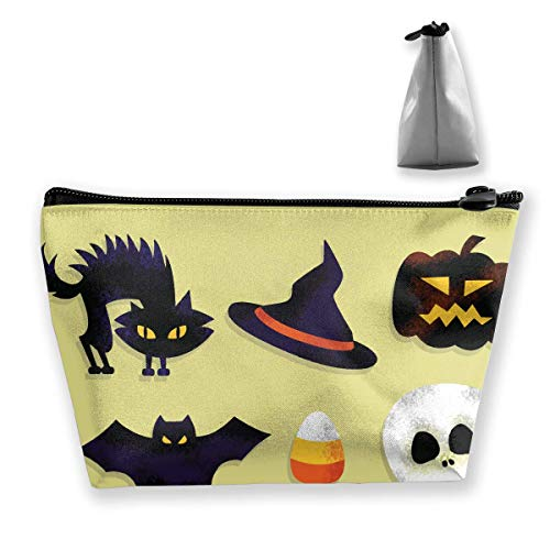 Cartoon Scary Halloween Women Cosmetic Bags Multifunktions-Kulturbeutel Organizer Travel Wash Lagerung (Trapez) (Cartoons Halloween Scary)