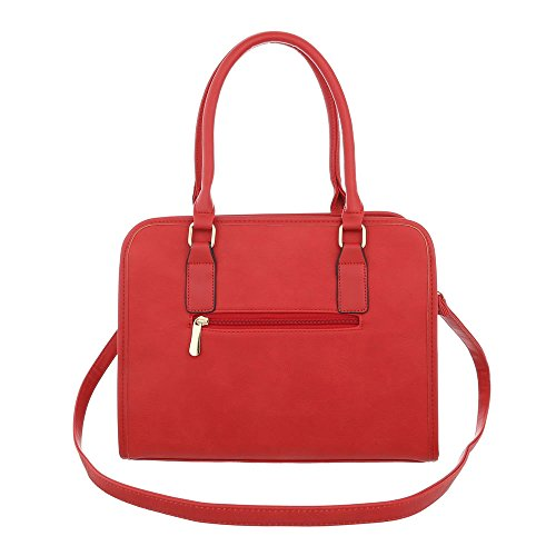 Borsa A Mano Media Borsa Donna Ital-design In Similpelle Ta-k685 Rossa