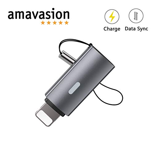 Amavasion Adaptador USB-C Lightning MFI Transferencia