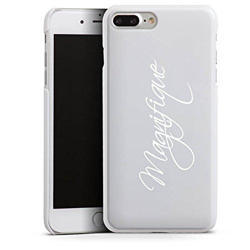 Apple iPhone 6 Plus Silikon Hülle Case Schutzhülle Magnifique Schrift ohne Hintergrund Hard Case weiß