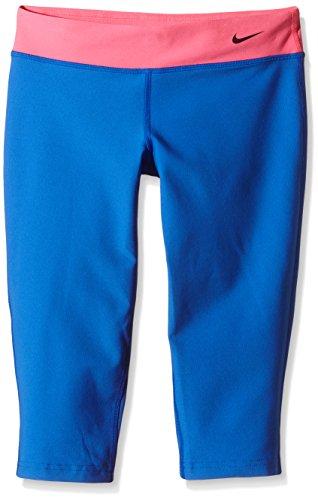 Nike Mädchen Capri Sporthose Legend Tights Fit, Hyper Cobalt/Hyper Pink/Black, XL, 522087-439