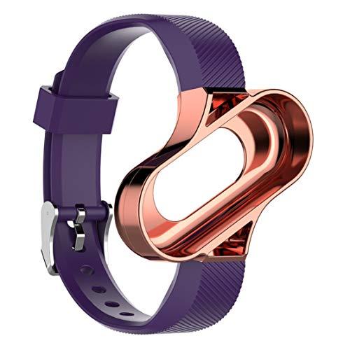 Happy Event Ersatz lüften Sport metallrahmen Armband handschlaufe für xiaomi mi Band 3 (D)