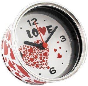 DISOK - Reloj De Aluminio Love Presentado En Lata - Detalles, Regalos y Recuerdos Originales para Invitadas de Bodas, comuniones