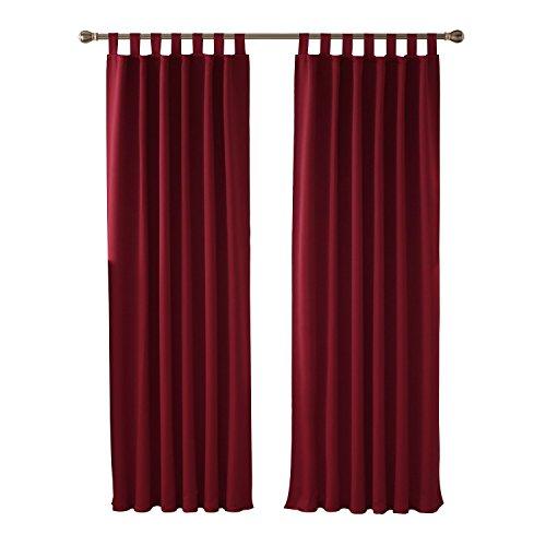 Galleria fotografica Deconovo Tende Oscuranti Termoisolanti con Passanti 140x245cm Rosso Una Coppia