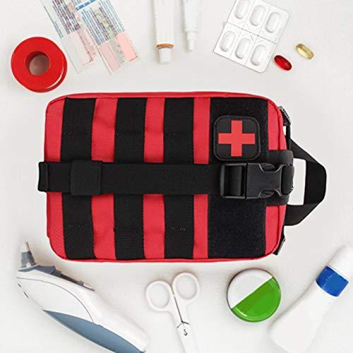 MachinYesell Outdoor Tactical Medical Bag Trousse de Premiers Soins Voyage Multifonctionnel Taille Pack Camping Escalade Sac d'urgence Cas Survival Kit Rouge