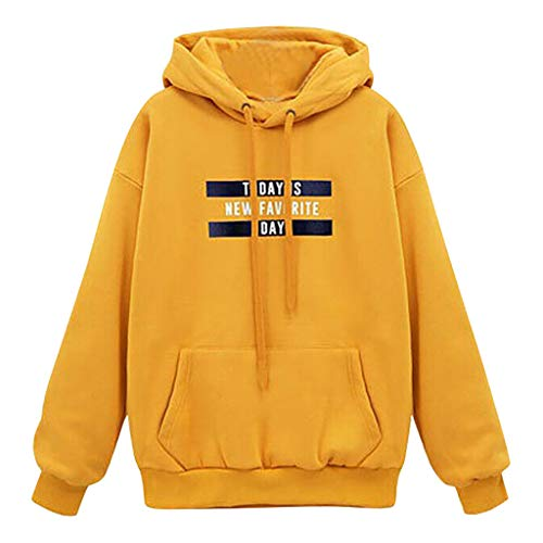 Toasye Letter Feather - Langärmliges Sweatshirt mit Kapuze und Tunnelzug Hoodie Frauen Basic Hoodie mädchen Pulli Lightweight Sweatshirts Casual Sweaters Unisex Hoodie