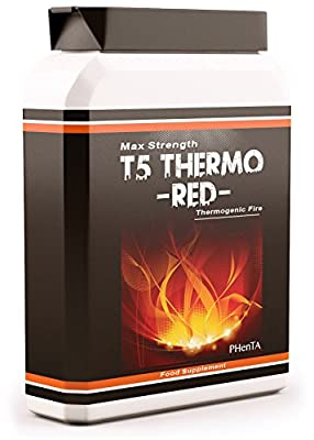 Strong T5 Fat Burners x90 Capsules - T5 Thermo Red Slimming Diet Pills for Weight Loss | Appetite Suppressant, Boost Metabolism and Increase Energy For Men and Women by Phenta