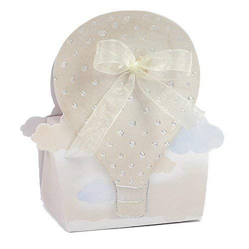 Stock 20 pezzi mongolfiera wedding scatolina portaconfetti in cartone decorazioni escluse bomboniera matrimonio comunione cresima compleanno
