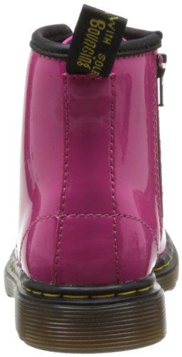 Dr. Martens Brooklee, Stivali Unisex da Bambino Rosa (Hot Pink Patent Lamper)