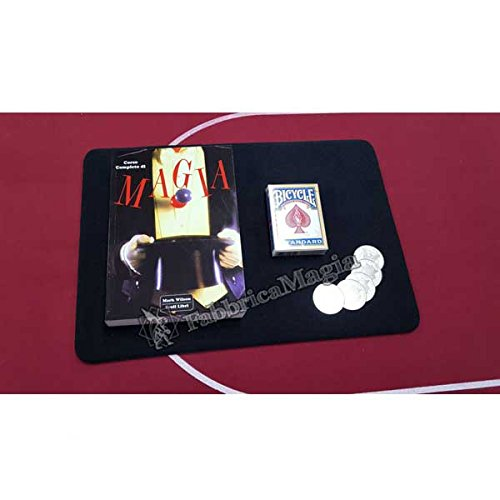 Fabbrica magia close up magic kit ( tappetino pro + libro + carte + monete )