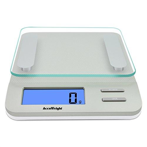Bilancia da cucina AccuWeight, fino a 11lb / 5kg, argento