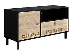 AmazonBasics - TV-Board, 110x40x55,5 cm, Braun