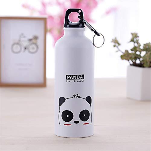 LKYJ Sport Wasserflasche Thermoflasche Kinder Geschenk Tragbare Wasser Flasche Nette Tier Muster Flasche Tasse 500ml Auslaufsichere Flasche Ideale Isolierflasche Panda 500ml (Nike Gürtel Wasser)