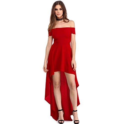 Mela Proibita Damen Column Kleid Rot
