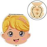 Switchali Organizador de la caja del diente para los dientes de la leche del bebé nina Ahorre la caja de almacenaje de madera para los cabritos muchacho nino