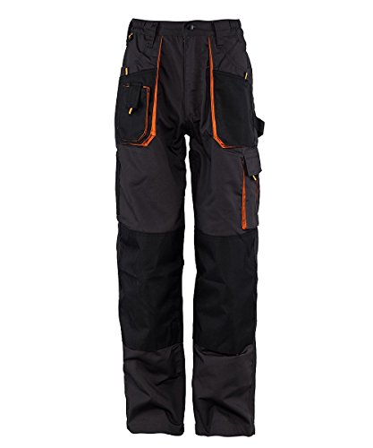 Stenso Emerton - Pantaloni da lavoro multitasca extra resistenti - uomo - grigio scuro/nero/arancione - 58