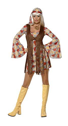 Kostüm Jahre Niedliche 70er - 1960er Jahre Schickes Schätzchen mit Kleid und Fransen-Weste, Small