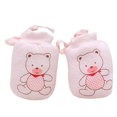 he,Schön Baby Mädchen Junge Blatt Warme Handschuhe(0-12 Monate) (0-12 Monate, Rosa 1) ()