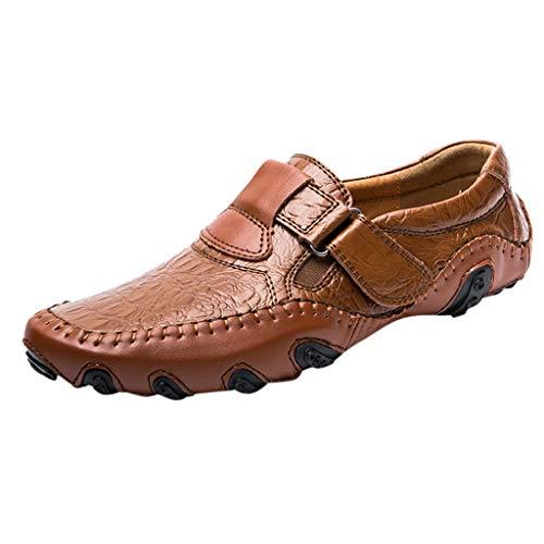 Drift Cat Leder Casual Schuh (TWISFER Herren Mokassins Slipper Slip-On Leder Bequem Casual Halbschuhe Fahrschuhe für Freizeit Arbeit Jungen)