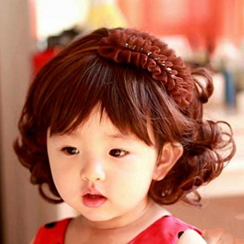 Tree-on-Life Reizende entzückende Jungen-Mädchen-Haar-Perücke-voller Kopf-Kinderperücken-Nette Kinder, die täglich Haarteil tragen, das für 5-10 Jahre alt kompatibel ist