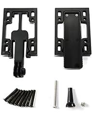 Zwish GoPro–Sistema de montaje para tabla de monopatín para GoPro, compartimento secreto, 2 montajes para soportes elevadores de la tabla, plástico, color negro Negro negro