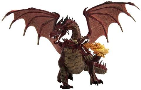 Papo - 38935 - Figurine - Dragon Deux Têtes Rouge