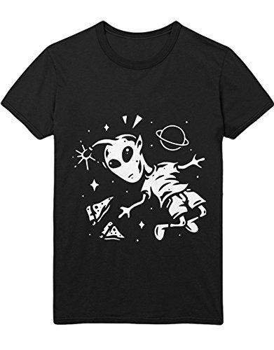 Bbq Chicken Pizza (Hypeshirt T-Shirt Pizza Addicted Alien in Space H100008 Schwarz L)