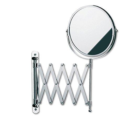 Kela 20847 Wand-Kosmetik-Spiegel, Zum Schrauben, Ausziehbar, 1-/5-fach Vergrößerung, Ø 18,5cm,...