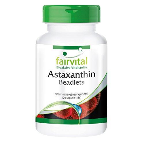 Astaxanthin 15mg pro Tag - für 2 Monate - HOCHDOSIERT - 120 Kapseln - mikroverkapselt in AstaPure Beadlets
