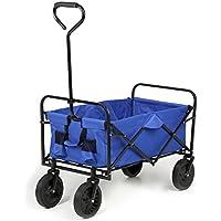 Sekey Plegable Carro   Mano Carro     Playa Carrito   Jardín Carro   Exterior Dispositivo (  Multi Función Carro Plegable hasta 80kg 360° Giratorio Apto para Todo Terreno, Azul