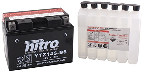 NITRO YTZ14S-BS-Batteria Moto-N-AGM aperto con acido