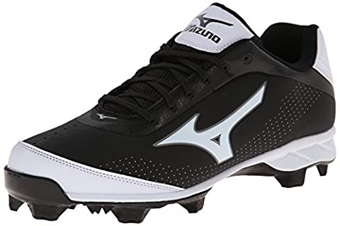 Mizuno Men's Advanced Blaze Elite 5 Low Baseball Cleat,Black/White,7.5 M US