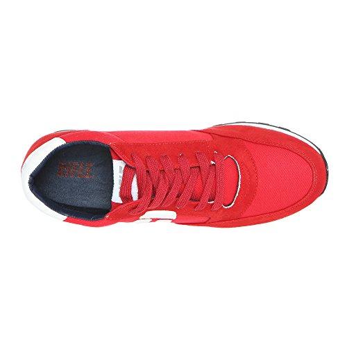 RIFLE Sneakers Uomo Donna, scarpa stringata 171M100577 171W10057 KLYDE Rosso – Bianco