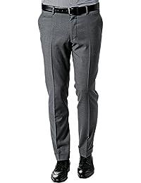 RENÉ LEZARD Herren Hose Schurwolle Freizeithose Meliert, Größe: 50, Farbe: Grau
