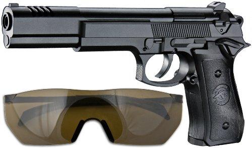 Kinder Softair Set Pistole + Kugeln + Schutzbrille ab 3 Jahren