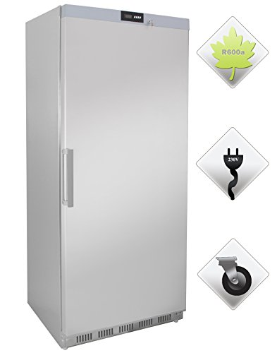 Zorro - Lagerkühlschrank ECO600R ss - Edelstahl - Gastro Kühlschrank mit Volltüre - R600A - Digitales Thermostat