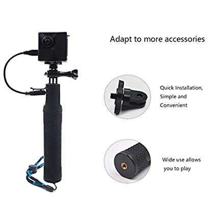 Vkospy Reemplazo para Insta360 UNO X/EVO Selfie Palo portátil Cargador de Agarre de la Mano de la cámara de energía móvil de la acción del Banco