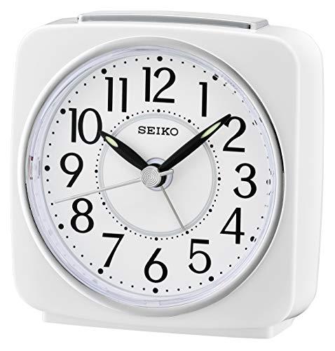 Seiko QHE140W - Despertador analógico plástico Blanco