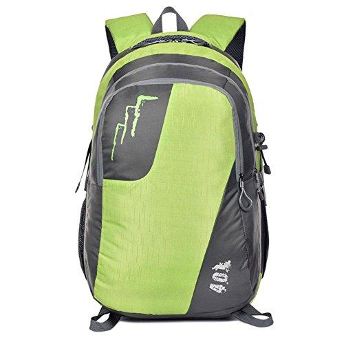 DONG Gli appassionati di outdoor zaino impermeabile campeggio viaggio ragazzi borsa , green Green