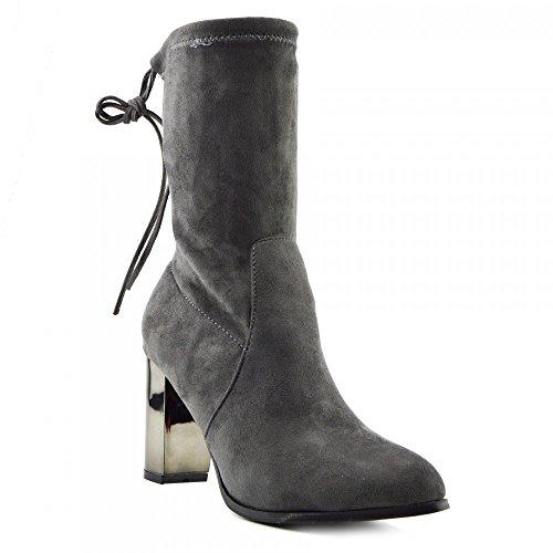 Kick FootwearChelsea Boots - Stivali Chelsea donna Grey Metallic Heel